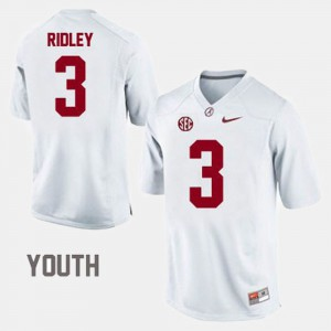 White Calvin Ridley Alabama Jersey #3 College Football Youth(Kids) 515856-282