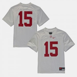 For Kids Alabama Jersey White #16 College Football 879126-687
