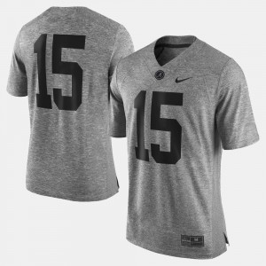 Gridiron Gray Limited #15 Gridiron Limited For Men Alabama Jersey Gray 975935-294