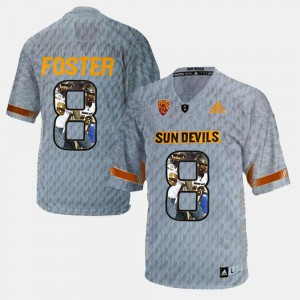 Player Pictorial D.J. Foster ASU Jersey For Men Gray #8 604668-923