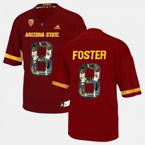 #8 Player Pictorial For Men D.J. Foster ASU Jersey Red 377226-397