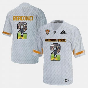 For Men Mike Bercovici ASU Jersey Player Pictorial #2 White 907701-989