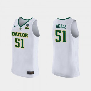 For Women's 2019 NCAA Women's Basketball Champions White #51 Caitlyn Bickle Baylor Jersey 125005-895