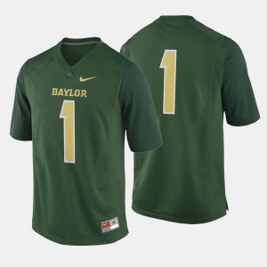 Baylor Jersey Mens College Football #1 Green 596818-185