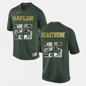 Player Pictorial #25 Men's Green Lache Seastrunk Baylor Jersey 273260-478