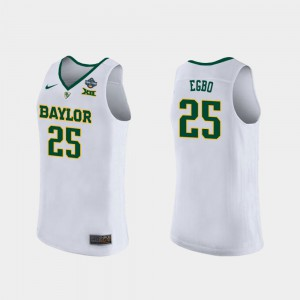 White Queen Egbo Baylor Jersey For Women #25 2019 NCAA Women's Basketball Champions 491796-252