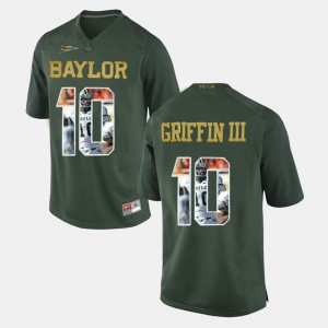 Green Player Pictorial Mens Robert Griffin III Baylor Jersey #10 826541-841