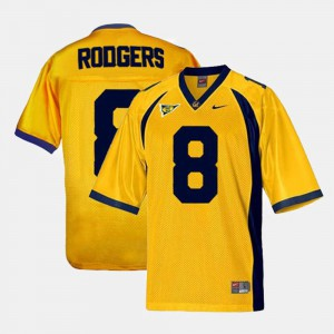 College Football Youth #8 Aaron Rodgers Cal Bears Jersey Gold 439487-935