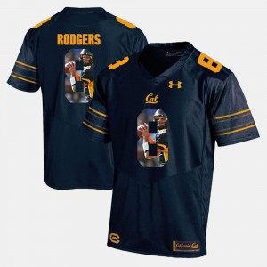Aaron Rodgers Cal Bears Jersey For Men's Player Pictorial Navy Blue #8 122263-304