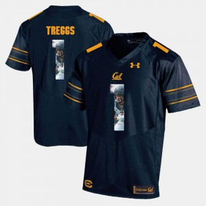 Navy Blue Bryce Treggs Cal Bears Jersey #1 Men's Player Pictorial 515006-162