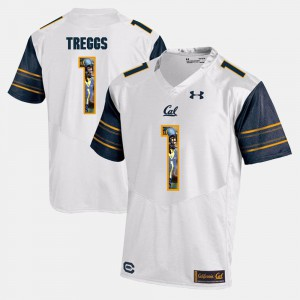 White Player Pictorial #1 Bryce Treggs Cal Bears Jersey For Men's 852256-250