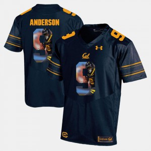 #9 Player Pictorial C.J. Anderson Cal Bears Jersey Mens Navy Blue 765551-985