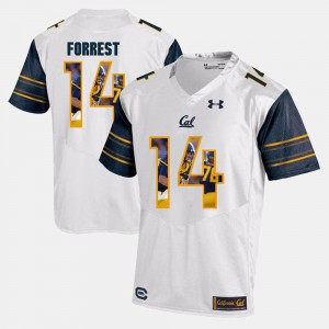 #14 Chase Forrest Cal Bears Jersey Player Pictorial For Men's White 625341-257