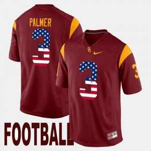 Carson Palmer USC Jersey US Flag Fashion #3 For Men's Maroon 487062-703