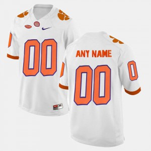 Mens Clemson Customized Jersey #00 White College Limited Football 929500-184