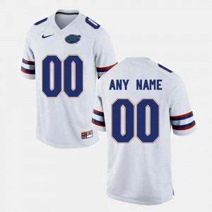 College Limited Football White Gators Customized Jersey Men #00 586250-117