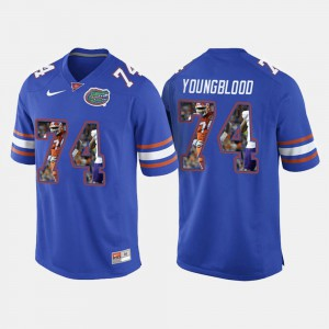 Royal Blue For Men Jack Youngblood Gators Jersey #74 College Football 797787-229