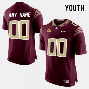 Red #00 For Kids College Limited Football FSU Customized Jerseys 604732-337