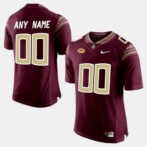 For Men's Red College Limited Football FSU Customized Jersey #00 319609-955