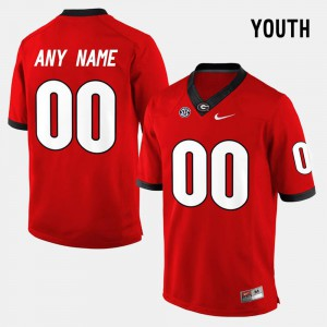 #00 Youth(Kids) College Limited Football Red UGA Custom Jersey 790992-231