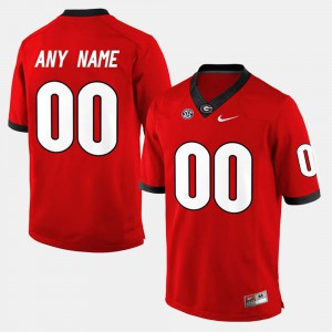 For Men UGA Custom Jersey Red College Limited Football #00 962096-436