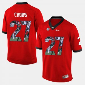 Nick Chubb UGA Jersey Player Pictorial #27 Red For Men 621546-586