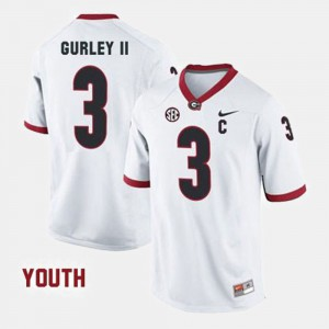 #3 Youth(Kids) College Football White Todd Gurley II UGA Jersey 678669-685