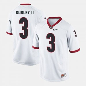 #3 Mens Todd Gurley II UGA Jersey White College Football 932812-325
