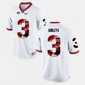 White Todd Gurley II UGA Jersey #3 Men's Player Pictorial 797514-735