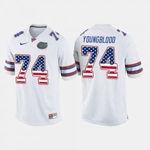 Jack Youngblood Gators Jersey White #74 For Men's US Flag Fashion 551849-429
