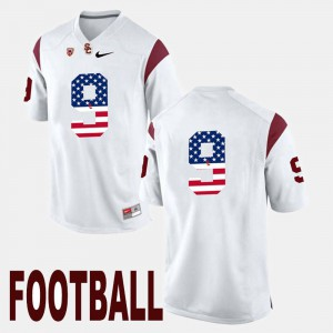 US Flag Fashion White For Men JuJu Smith-Schuster USC Jersey #9 425064-902