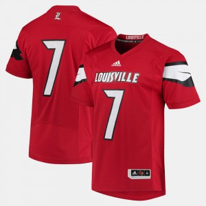 #7 Louisville Jersey For Men's Red 2017 Special Games 514656-963