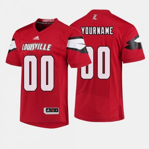 Red For Men Louisville Customized Jerseys #00 College Football 626932-376