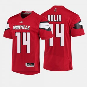 College Football Red #14 Kyle Bolin Louisville Jersey Mens 926376-312