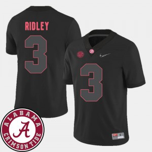 2018 SEC Patch #3 Black College Football For Men's Calvin Ridley Alabama Jersey 272696-186