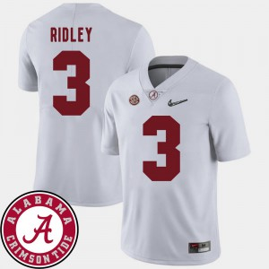 2018 SEC Patch White Mens Calvin Ridley Alabama Jersey College Football #3 468260-219