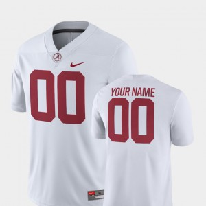 For Men 2018 Game Alabama Customized Jerseys #00 White College Football 459898-628