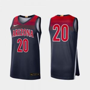Navy #20 Arizona Jersey Limited For Men's College Basketball 281652-565