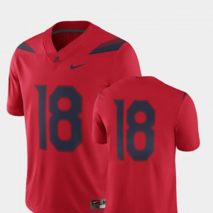 Arizona Jersey 2018 Game For Men's College Football #18 Red 342208-994