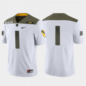 Men's Limited Edition White 1st Cavalry Division #1 Army Jersey 922223-602