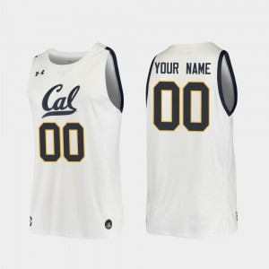 Replica Cal Bears Customized Jersey Mens #00 White 2019-20 College Basketball 942010-428