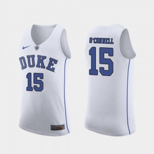 Mens White March Madness College Basketball Authentic Alex O'Connell Duke Jersey #15 122523-180