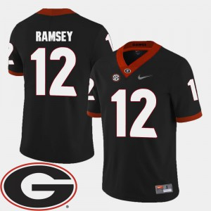 #12 Black College Football For Men's Brice Ramsey UGA Jersey 2018 SEC Patch 178804-802