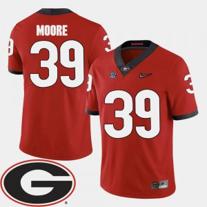 Corey Moore UGA Jersey 2018 SEC Patch Red #39 Men College Football 916947-647