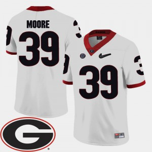 Corey Moore UGA Jersey 2018 SEC Patch College Football For Men's White #39 784216-484