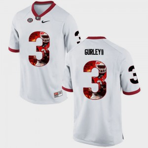 Todd Gurley II UGA Jersey Pictorial Fashion #3 White For Men's 600608-758