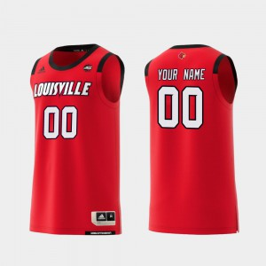 For Men Louisville Customized Jersey Replica #00 College Basketball Red 639246-758