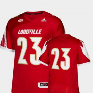 #23 For Men's College Football Red Louisville Jersey Premier 692750-505
