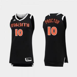 Chase Black White #10 College Basketball For Men's Dominic Proctor Miami Jersey 645110-663