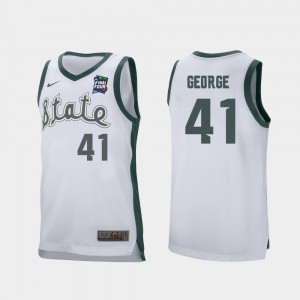 Conner George MSU Jersey #41 2019 Final-Four Mens Retro Performance White 255434-916